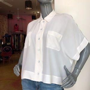 MARC by Marc Jacobs Frances Silk Button-Up Blouse
